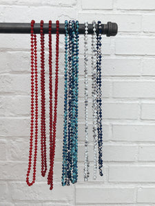 "Beaded Necklace 32"" Multiple Colors"