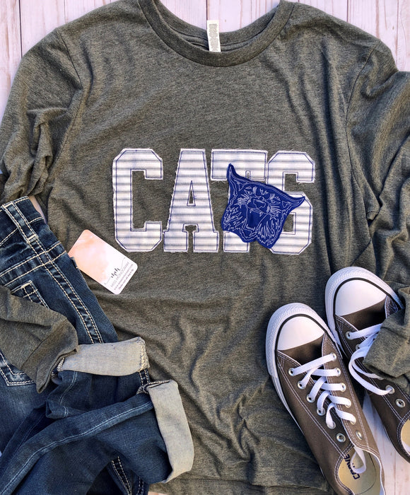 CATS Ragged Game-Day L/S Tee Grey
