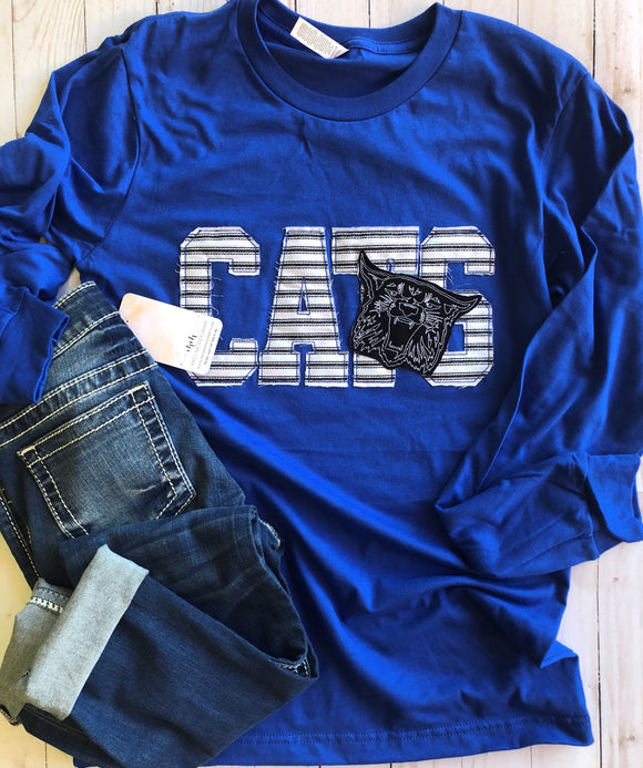 CATS Ragged Game-Day L/S Tee Royal