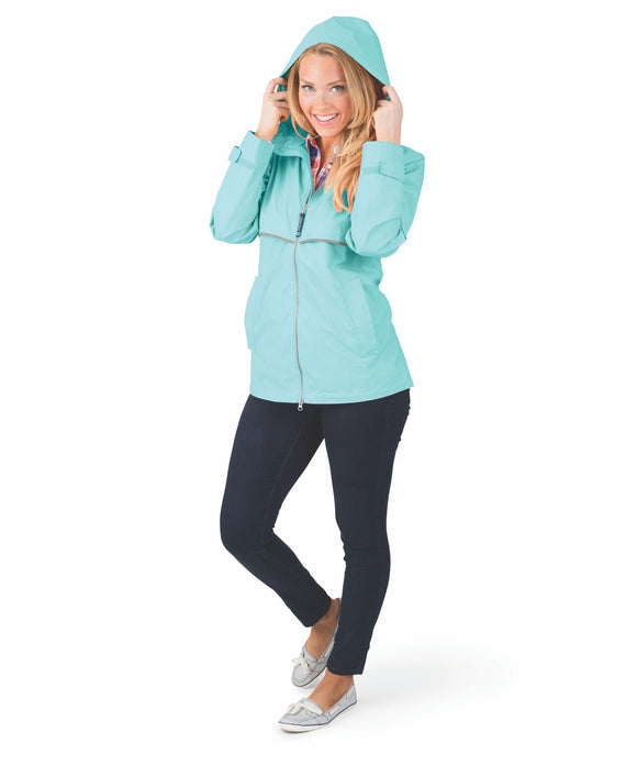 New Englander Rain Jacket - Aqua