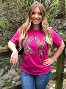 Kentucky Fuschia Frenzy Tee