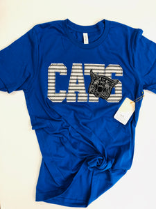 Cats Ragged Game-Day Tee Royal
