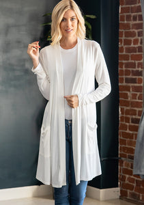 Callie Long Cardigan Ivory