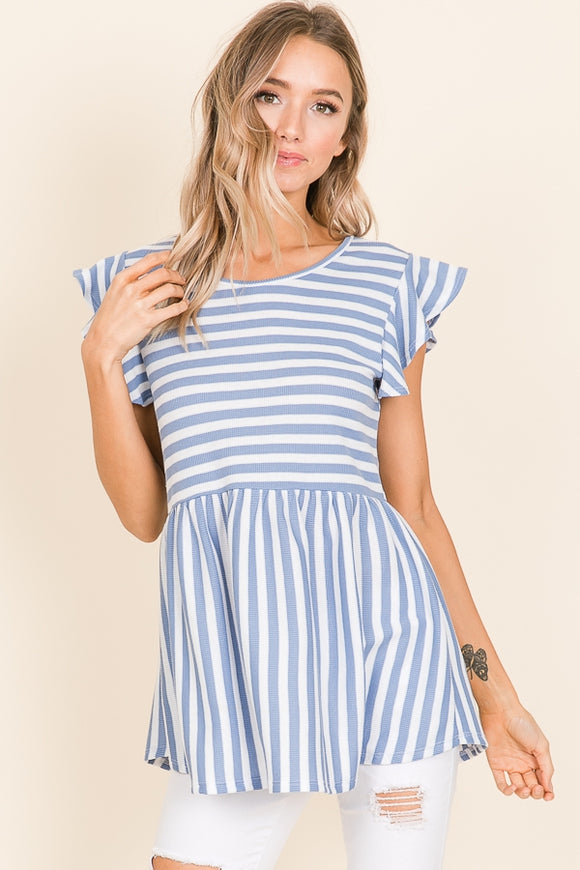 Stanton Stripe Top | Blue