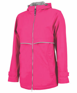 New Englander Rain Jacket - Hot Pink