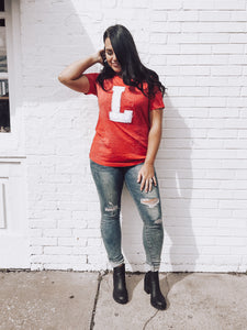 "Distressed Game Day Tee ""L"""
