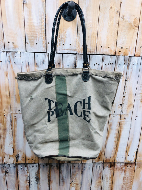 Teach Peace Tote