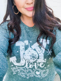 Joy Love Peace | French Terry | Sweatshirt