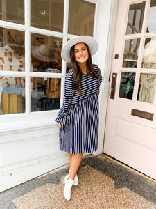 Bebe Striped Dress | Navy