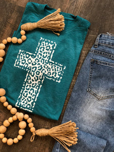 Leopard Cross |  Graphic Tee