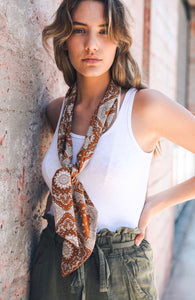 Boho Diamond Neckerchief | Scarf | Hair Scarf