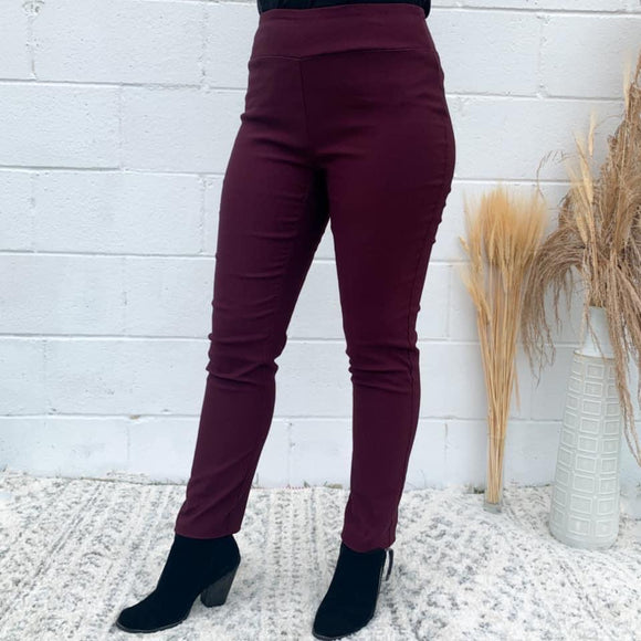 Luxe Maroon Pull on Pant
