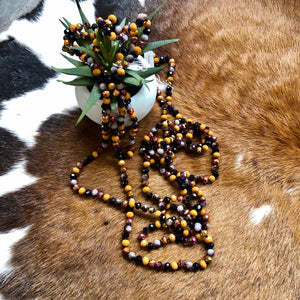 Fall beaded Necklace | 60""
