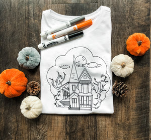 Color Me Kids Tee Haunted House