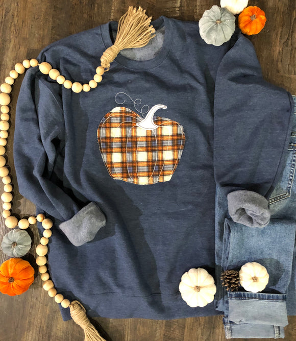 Plaid Pumpkin Sweatshirt