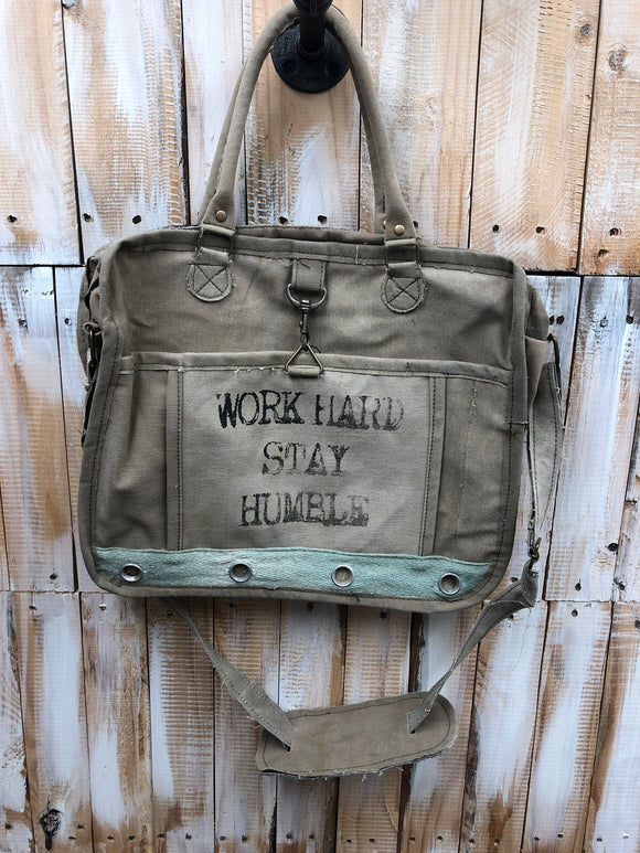 Work Hard Stay Humble Messenger Bag