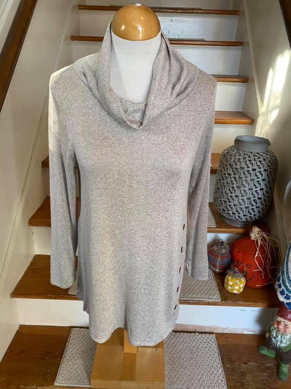 Sweater Turtleneck | Tunic Length | Button