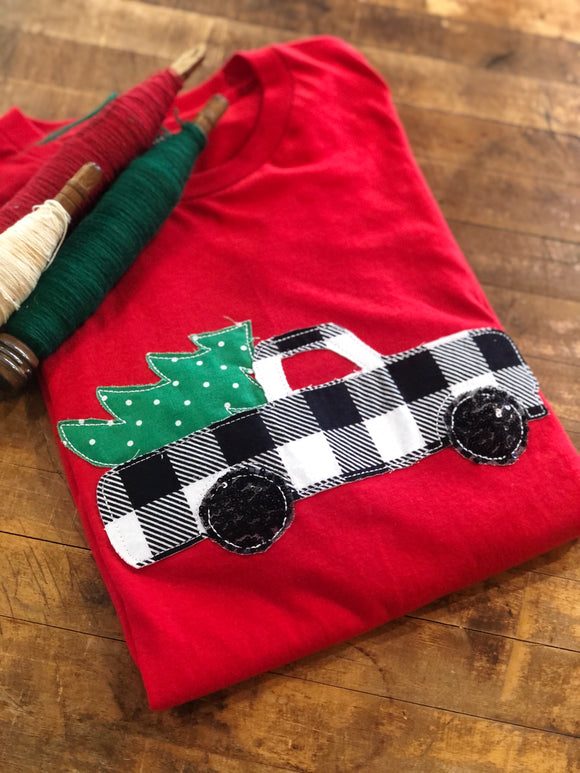 Buffalo Christmas Truck| Red Tee