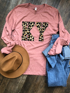 State Leopard Tee Long Sleeve