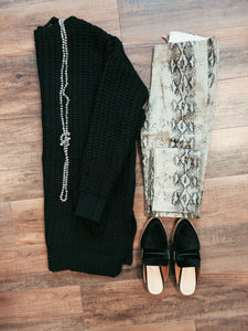 Sydney Snakeskin Distressed Pants
