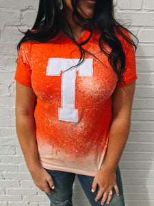 "Distressed Game Day Tee ""T"""