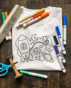 Color Me Kids Tee Space