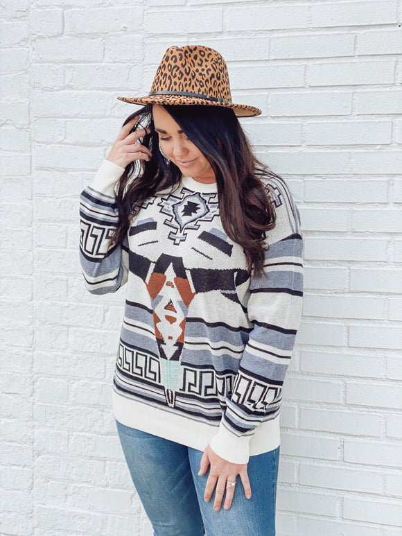 Aztec Skull Sweater