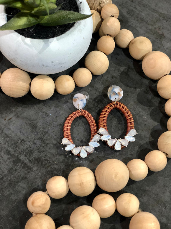 Rattan Jewel Earrings