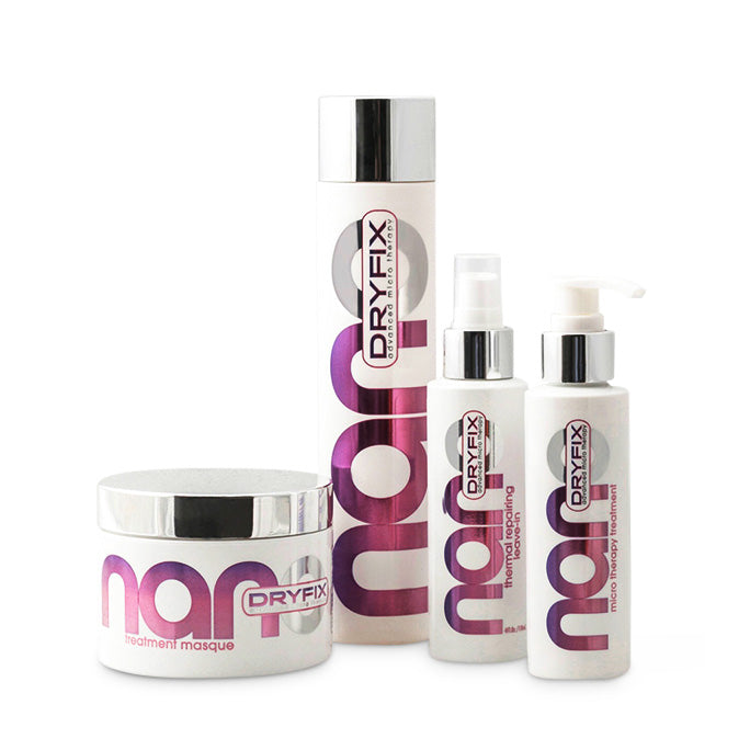 Nano-Dry Fix Repair, Rejuvenate & Cleanse Essentials Hair Kit + Free Face Mask
