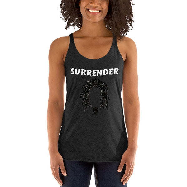 """SURRENDER"" Women's Racerback Tank"