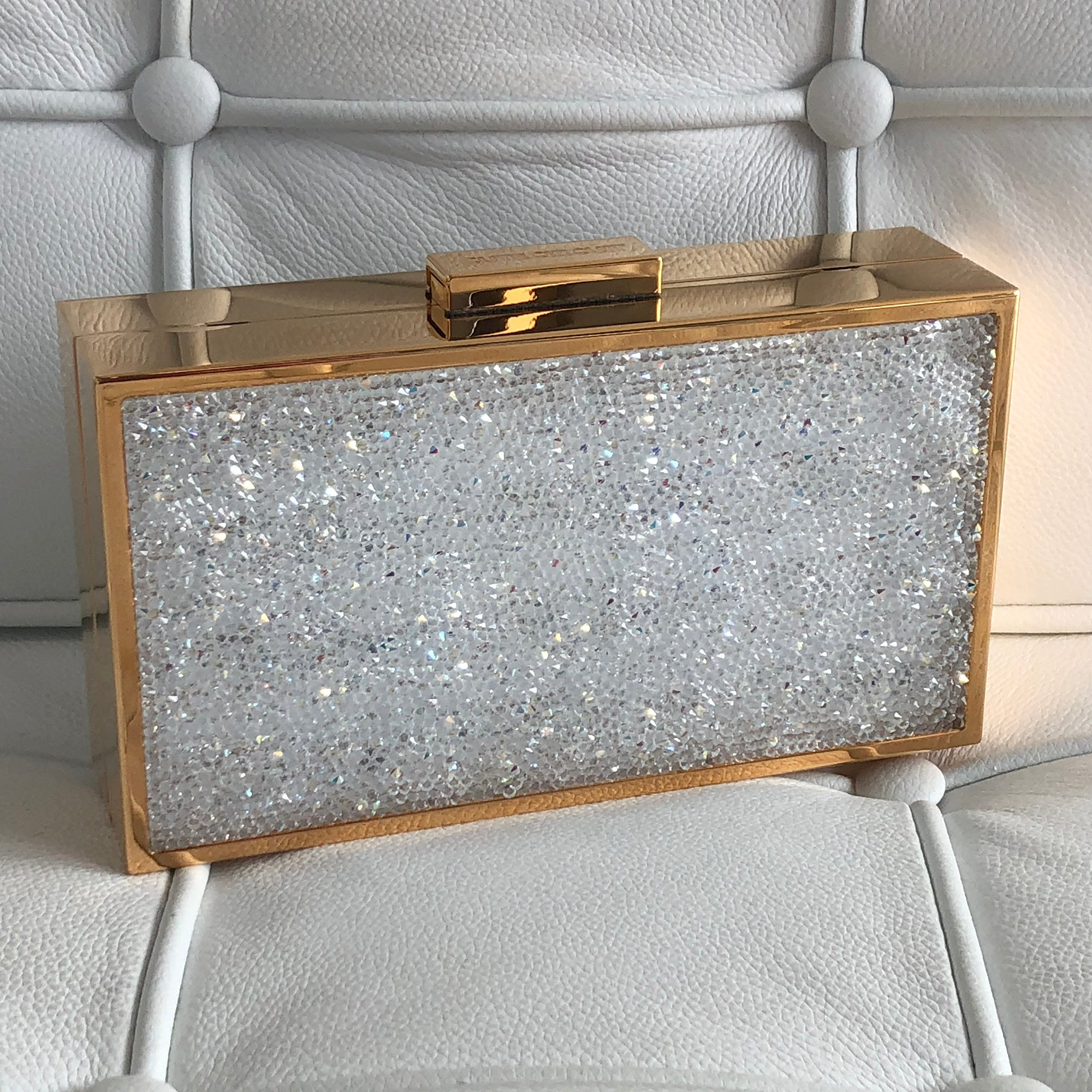 Gold Crystal Mirror Handbag