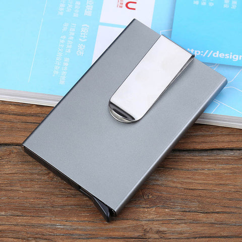 luxury credit card holder Men Women Aluminum Slim