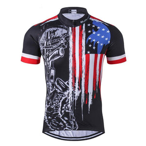 Weimostar Breathable USA-Themed Cycling Jersey