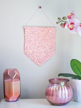 Load image into Gallery viewer, Peach Glitter Hanging Pin Display