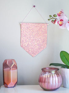 Peach Glitter Hanging Pin Display