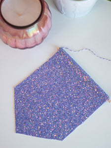 Lilac Glitter Hanging Pin Display