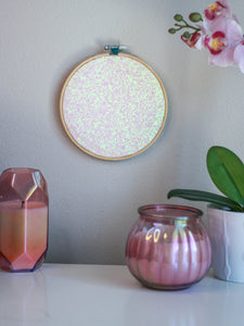 Iridescent Glitter Pin Display Hoop