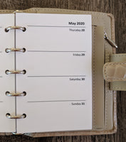 Mini 2020 Week-on-Two-Pages calendar planner refill (Filofax Mini size) - vf planner pages
