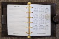 vanilla folders - Pocket 2020 week-on-two-pages planner refill