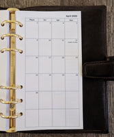 Personal 2020 Monday-start monthly calendar planner refill - vf planner pages