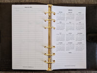 Personal 2020 Sunday-start monthly planner calendar refill - vf planner pages
