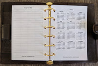 Pocket 2020 Sunday-start monthly calendar planner refill - vf planner pages