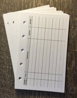 Mini planner expense sheets - vanilla folders