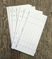 Personal planner expense sheets - vanilla folders