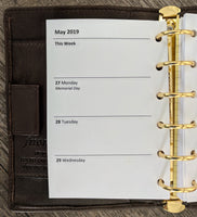 Pocket 2019 Week-on-Two-Pages Planner Refill - vanilla folders