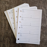 Pocket planner 30 phone address sheets - vf planner pages