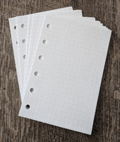 Pocket planner 40 dot-grid note sheets, white - vf planner pages