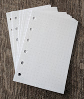 Pocket planner 40 dot-grid note sheets, white