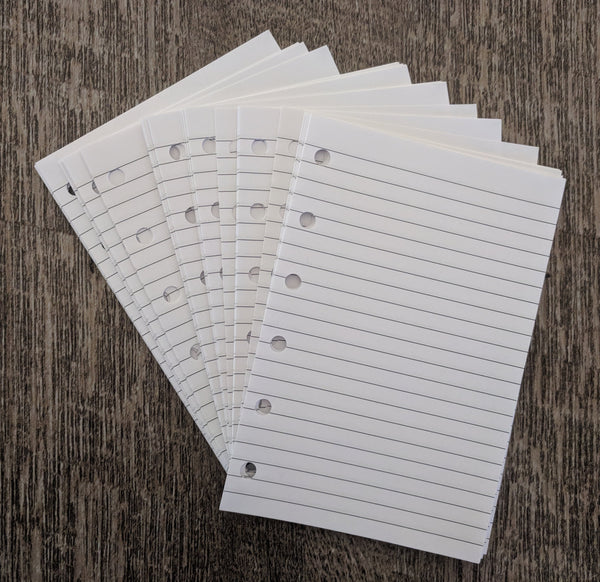 Pocket lined note sheets inserts - handmade by vf planner pages