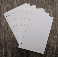 Pocket planner 40 plain note sheets refill, white - vf planner pages